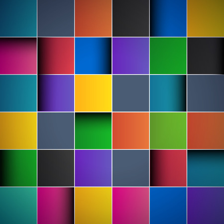 Color tiles, abstract background Vector