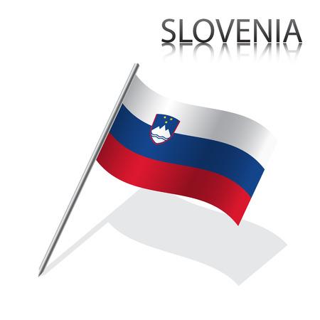 slovenian: Realistic Slovenian flag, vector illustration