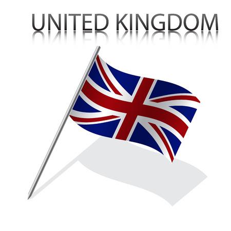 british flag: Realistic British flag, vector illustration