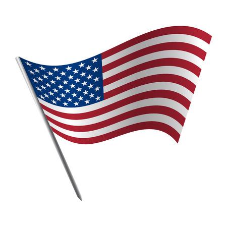 De Verenigde Staten van Amerika vlag Stock Illustratie