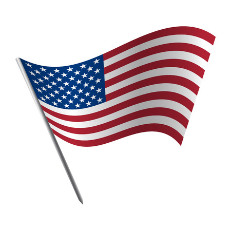 bandera blanca: Los Estados Unidos de América en el pabellón