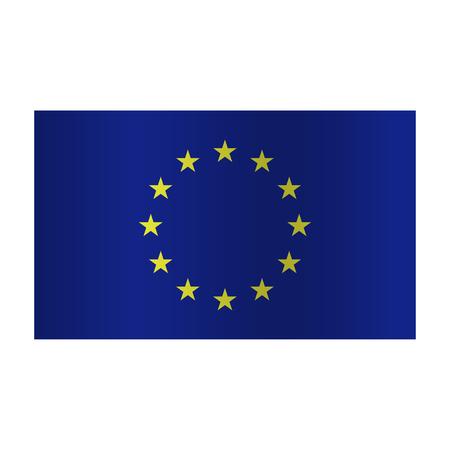 Simple Europe flag (EU) op een witte achtergrond