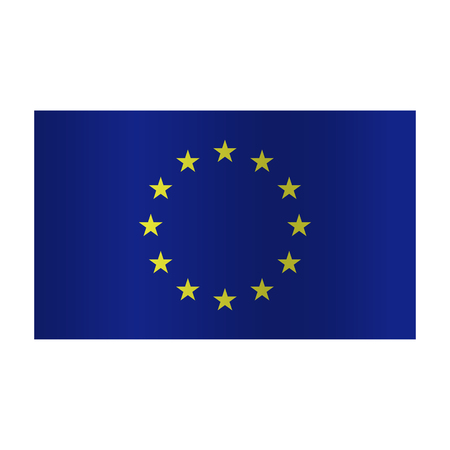Simple Europe flag (EU) isolated on white background