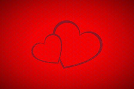 symbole: Valentines background, deux c?urs simples