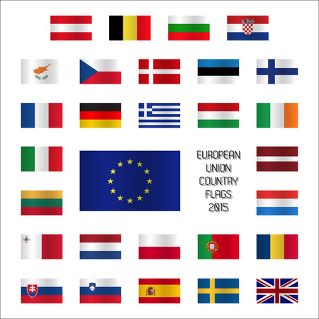 od: Set od European Union country flags Illustration