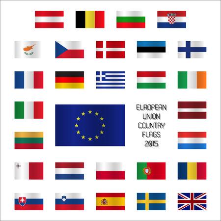 od: Set od European Union country flags Illustration