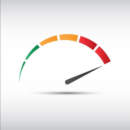 Color tachometer Vettoriali