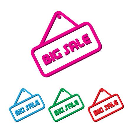 big sales: Set of big sales element