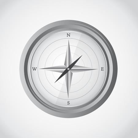 mariner: Simple compass, vector illustration