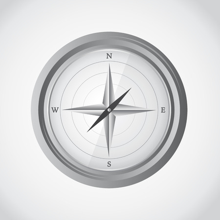 Simple compass, vector illustration