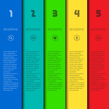 Colorful infographic template with place for your content, web design, banners, applications, elements Illustration
