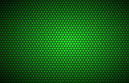 Geometric polygons background, abstract green metallic wallpaper, vector illustration