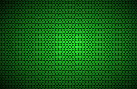 fibra de carbono: polígonos fondo geométrico, verde resumen de papel metálico, ilustración vectorial