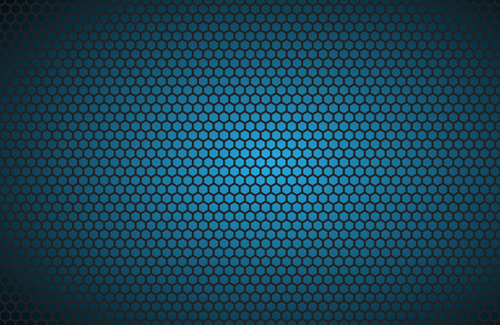 metal wall: Geometric polygons background, abstract blue metallic wallpaper, vector illustration