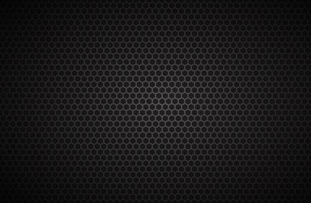 Geometrischer Polygone Hintergrund, abstrakte schwarz metallic Tapete, Vektor-Illustration