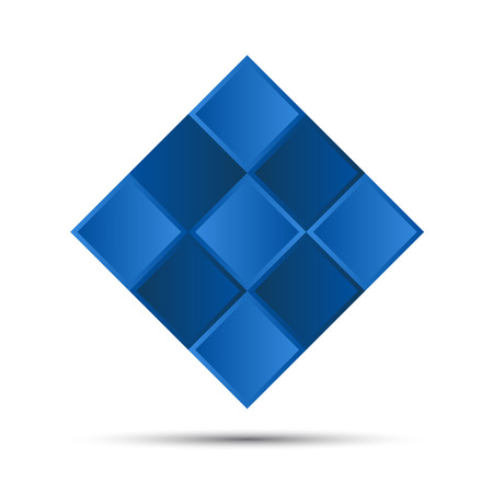 Simple blue graphic symbol, logo for your corporate identity