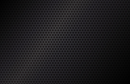 Geometric polygons background, abstract black metallic wallpaper, vector illustration