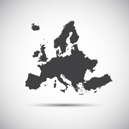 kingdom of spain: Simple vector illustration map of European Union