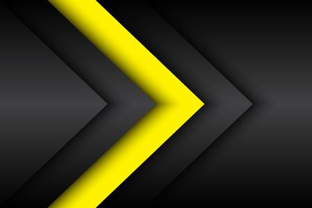 amarillo y negro: Fondo abstracto negro y amarillo, ilustración vectorial