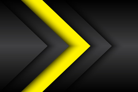 Black and yellow abstract background, vector illustration