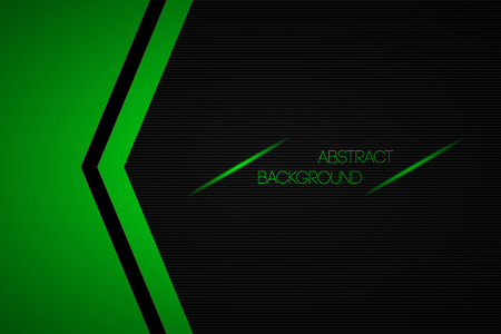 Black And Green Abstract Vector Background With Place For