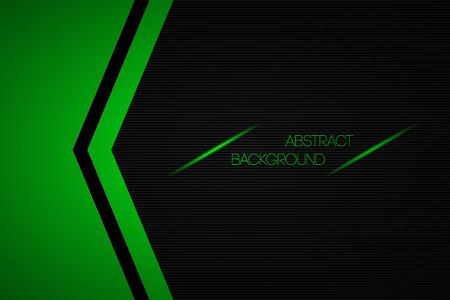 Zwarte en groene abstracte vector achtergrond met plaats voor uw tekst