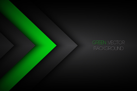 Black and green abstract background, modern vector illustration