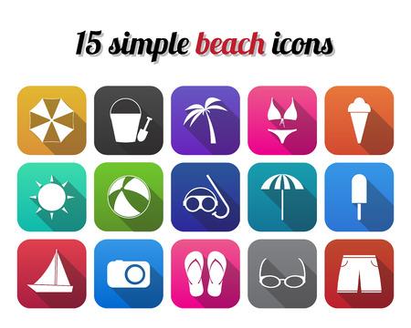 sunglasses recreation: Summer beach icon, modern design style Illustration
