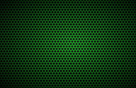 Geometrische polygonen achtergrond, abstracte groen metallic behang, vector illustratie Stock Illustratie