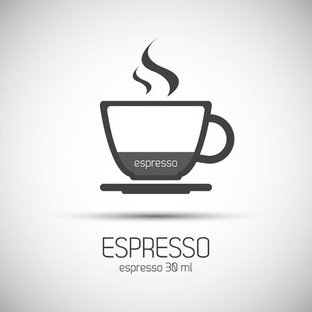 espresso cup: Cup of espresso, simple vector icons