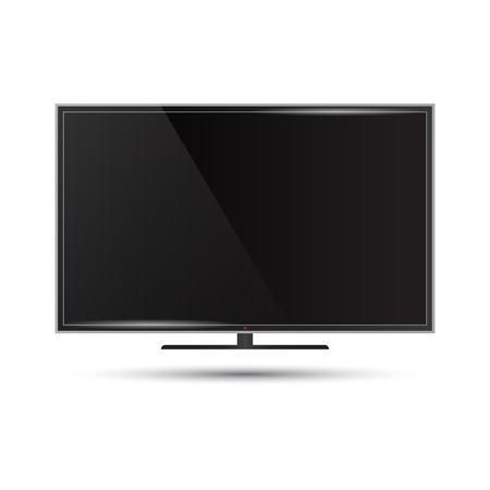 Illustratie van een moderne flatscreen televisie