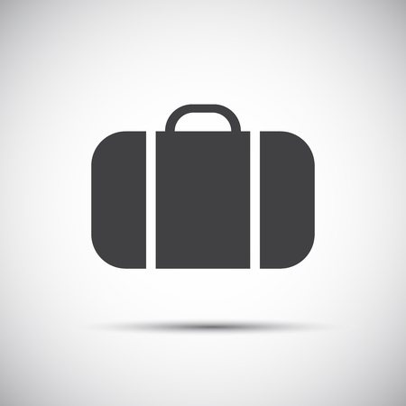 case: Simple grey suitcase icon , illustration for your website and holiday infographic Illustration