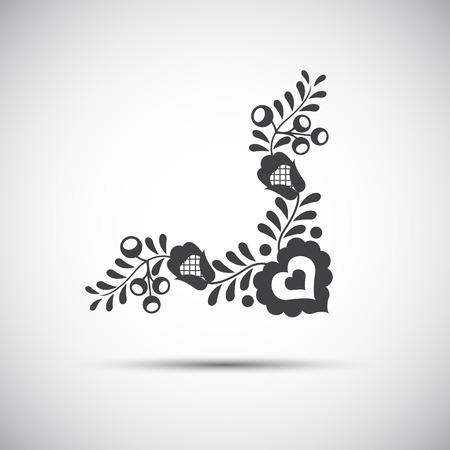 Traditionnelle illustration des modèles populaires de symbole de gens simples