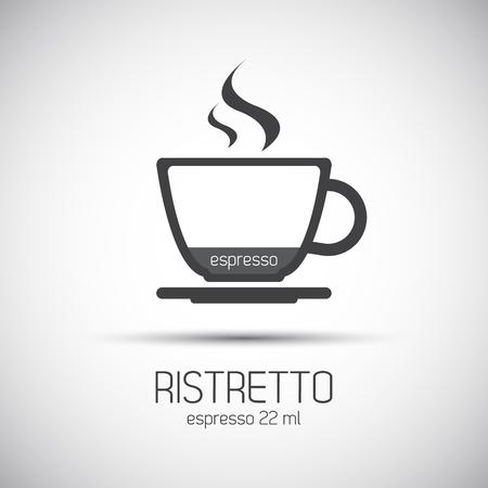 Cup of espresso ristretto simple icons