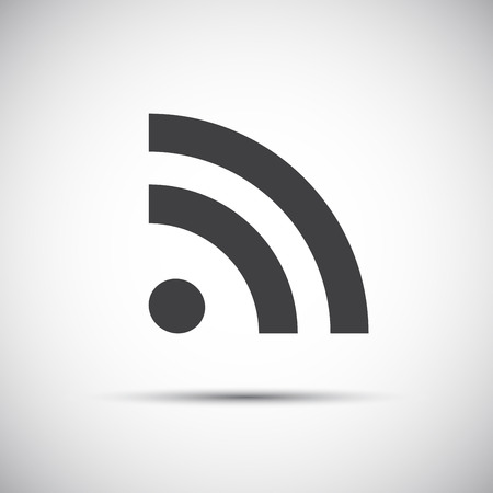 syndication: Simple flat rss icon, feed symbol