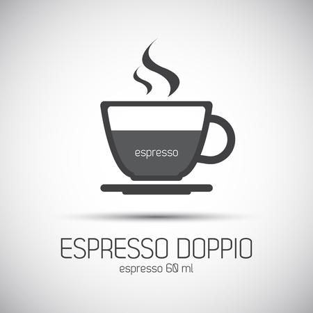 Cup of espresso doppio, simple icon
