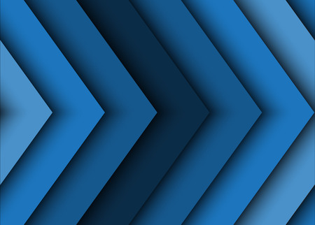 Blauwe abstracte achtergrond van pijlen
