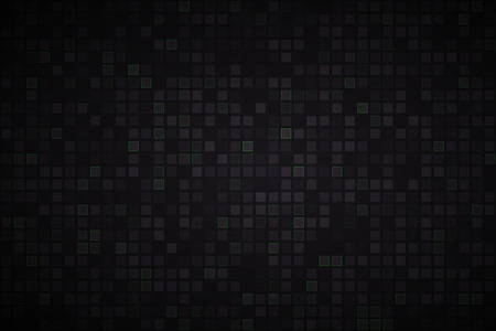 abstract black: Black abstract background with black and green squares