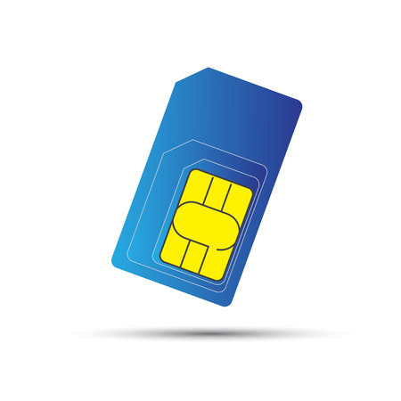 gsm phone: Mobile phone sim card, standard, micro and nano sim card Illustration