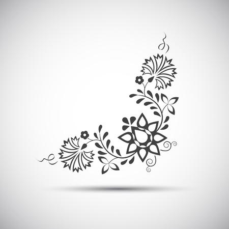 Tradycyjne ozdoby ludowe, ilustracją prosty symbolem ludowej Ilustracje wektorowe