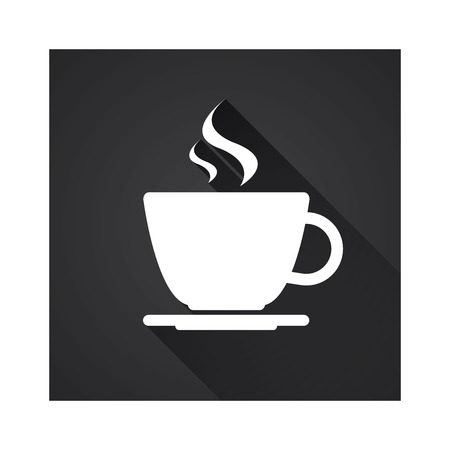 Flat icon of simple coffee cup, vector illustration