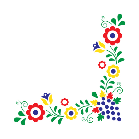 Colorful folklore ornament isolated on a white background, vector illustration