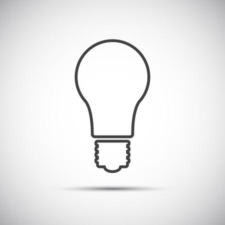 energysaving: Light bulb line vector icon isolated on white background