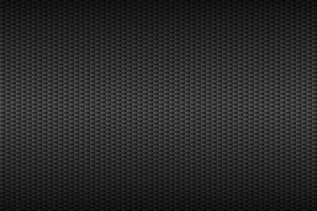 aluminium texture: Abstract dark grey carbon background, metallic apperance, vector technology template Illustration