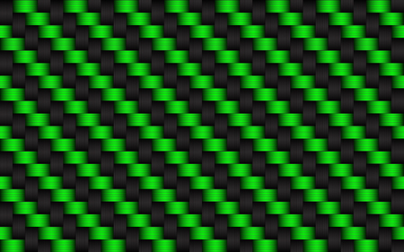 Black and green abstract background, metallic carbon look, vector illustration
