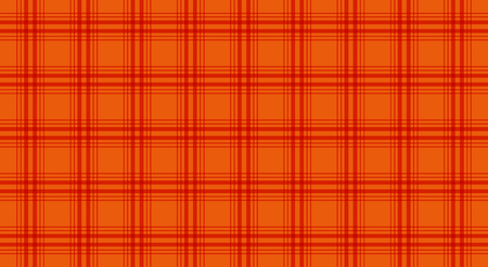 Fabric in orange color, seamless tartan pattern, vector Illustration