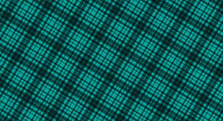 緑の色、シームレスなタータンのパターン、ベクトルの生地