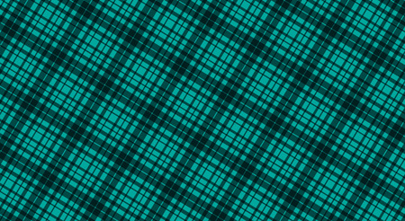 Fabric in green color, seamless tartan pattern, vector