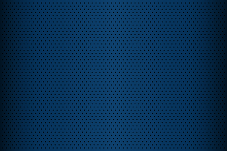 Blue perforated metal texture, abstract background, vector illustration Illustration