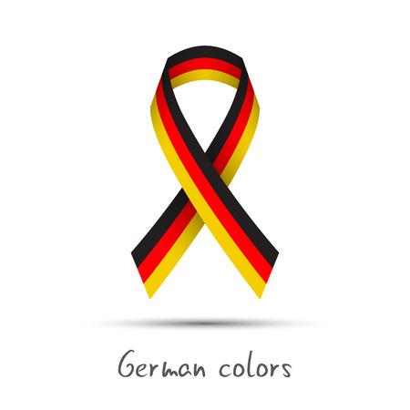 Moderne farbige Vektor-Band mit dem deutschen tricolor isoliert auf weißem Hintergrund, abstrakte deutsche Flagge, Made in Germany logo Standard-Bild - 81167932